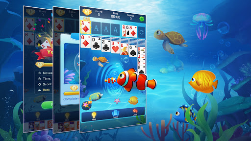 Solitaire Fish - Classic Klondike Card Game android2mod screenshots 6