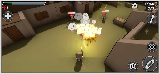 Mini Soldiers: Battle royale 3D apktreat screenshots 2