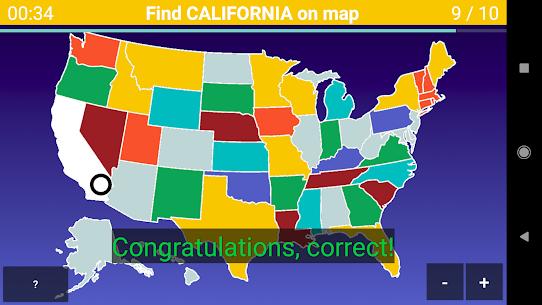 US Map Quiz – 50 States Quiz – US States Quiz 1.0.20 Mod APK (Unlock All) 2