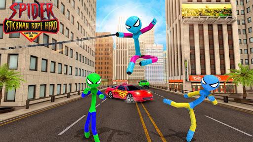 Flying Stickman Rope Hero: Flying Hero: Crime City  screenshots 10