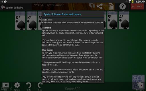 Spider Solitaire 1.2.14 screenshots 12