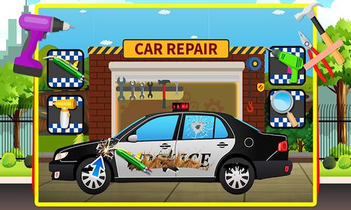 Police Car repair and wash  screenshots 2