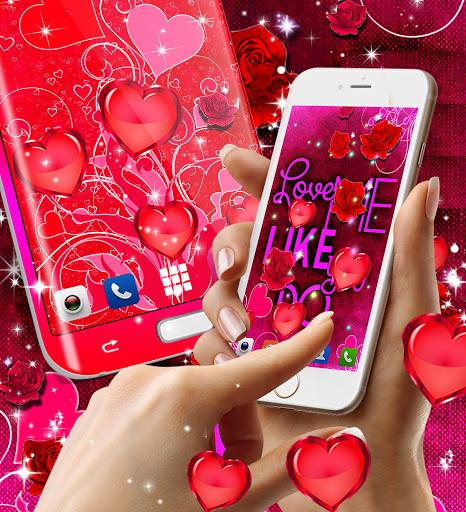 Red rose live wallpaper apktram screenshots 5