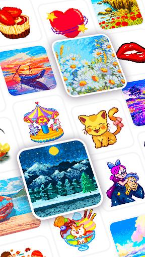 Pix123 - Color by Number, Pixel Art Relaxing Paint 2.4.4 screenshots 8