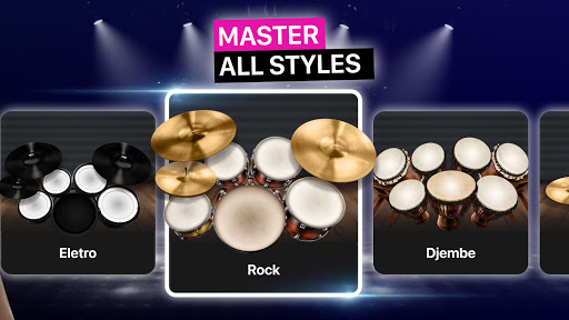 Drums: real drum set music games to play and learn apktram screenshots 5