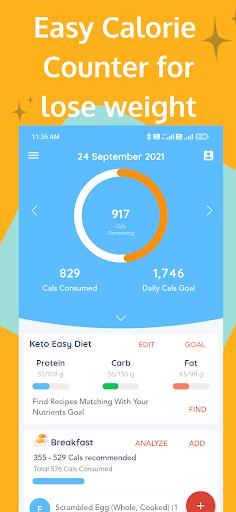 Diety - Diet Plan, Calorie Counter, Weight Loss screenshots 1