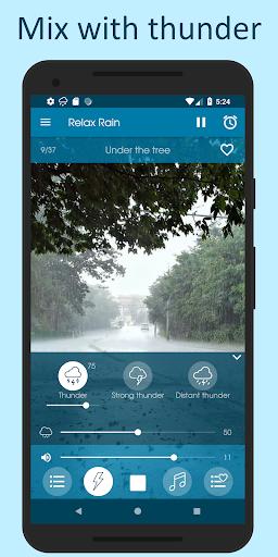 Relax Rain - Rain sounds: sleep and meditation android2mod screenshots 3