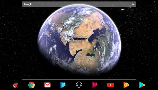 🌎Earth & Moon🌜 4K Parallax 3D Live Hintergrund Screenshot