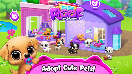 FLOOF - My Pet House - Dog & Cat Games  screenshots 1