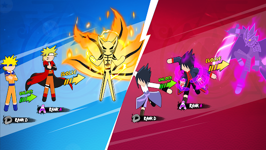Stickman Ninja Fight – Shinobi Epic Battle Mod Apk 2.5 (A Large Number of Diamonds) 2