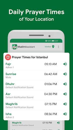 Muslim Assistant - Prayer Times, Azan, Qibla 4.2.06 Screenshots 1