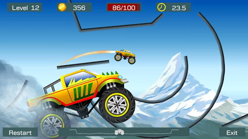 Monster Stunts -- monster truck stunt racing game apkslow screenshots 2