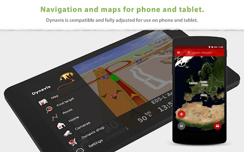 Dynavix Navigation, Traffic Information & Cameras 8