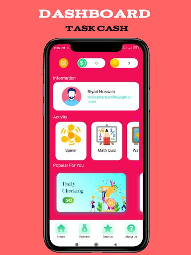 Task Cash - Play Game And Win apk  screenshots 1