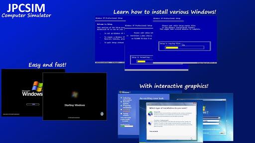JPCSIM – PC Windows Simulator