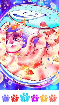 Cat coloring games-Offline paint by numberのおすすめ画像2