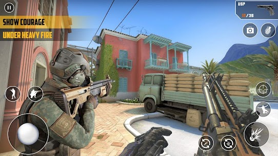 FPS Cover Strike 2021 Mod Apk (God Mode/Dumb Enemy) 4