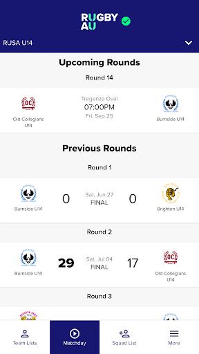 rugby match day screenshot 3