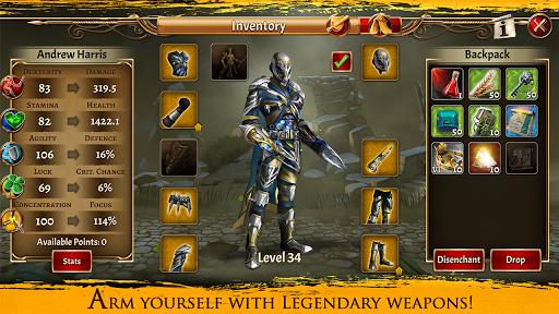 Code Triche Eterna: Heroes Fall - Deep RPG apk mod screenshots 2