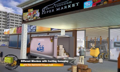 Supermarket Cargo Transport Truck Driving Sim 2019  screenshots 5