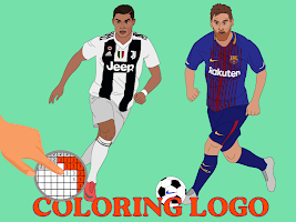 Coloring LOGO Football : Pixel art by number
