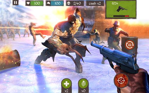Télécharger Zombie Call: Trigger 3D First Person Shooter Game  APK MOD (Astuce) screenshots 1
