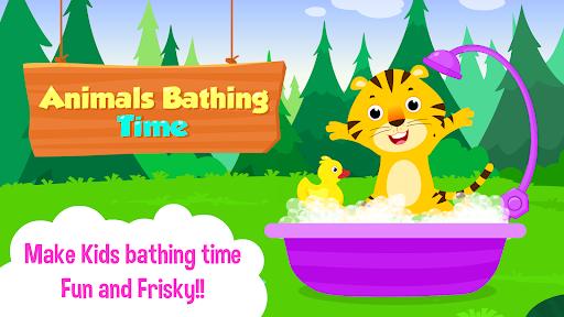 Baby Animal Bathing Game for Kids & Preschoolers apkdebit screenshots 6
