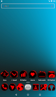 Flat Black and Red Icon Pack