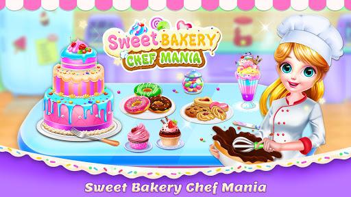 Sweet Bakery Chef Mania- Cake Games For Girls 4.6 screenshots 1