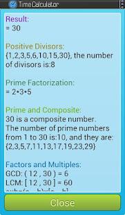 Calculator -- Time, GCD, LCM