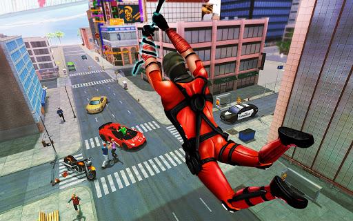 Flying Ninja Rope Hero: Light Speed Ninja Rescue apkpoly screenshots 6