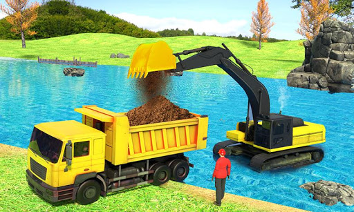 river sand excavator simulator: crane game screenshot 2