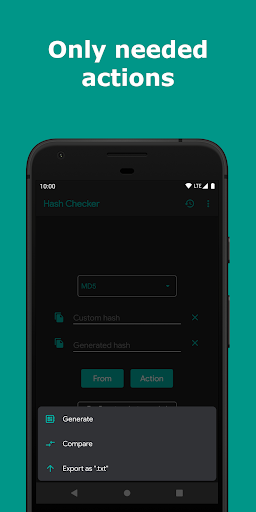 hash checker: md5, sha-1/224/256/384/512, crc-32 screenshot 3