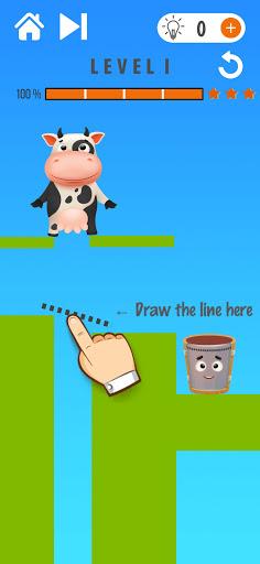 Happy Cow - Draw Line Puzzle 1.9.3 screenshots 1