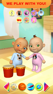 Bebek ikiz Yenidoğan Eğlence Talking Apk İndir 1