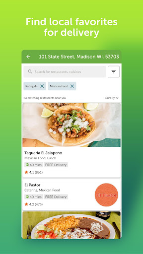 EatStreet: Local Food Delivery & Restaurant Pickup  screenshots 2