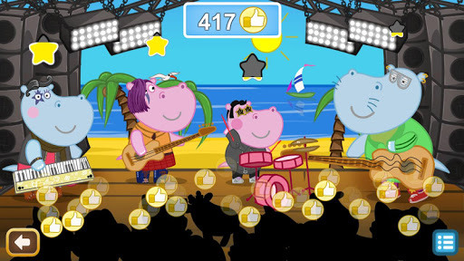 Kids music party: Hippo Super star screenshots 13