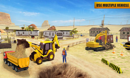 Heavy Construction Mega Road Builder apktram screenshots 3