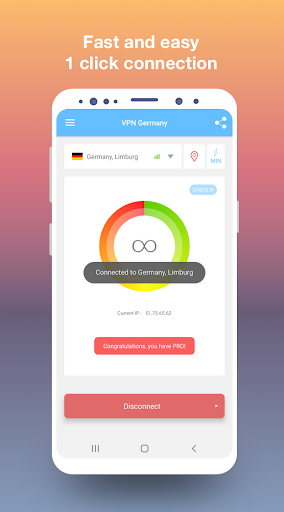 VPN Germany - Free and fast VPN connection 1.49 screenshots 1