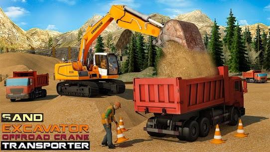 Sand Excavator Offroad Crane Transporter 5
