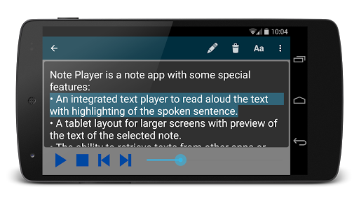 Note Text Player (Read aloud) For PC Windows (7, 8, 10, 10X) & Mac Computer Image Number- 7