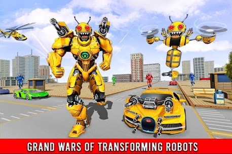 Bee Robot Car Transformation Game Mod Apk (Freeze Enemy) 10