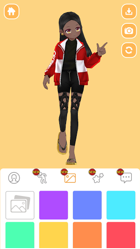 Styling Girl - 3D Dress Up Game apkpoly screenshots 2