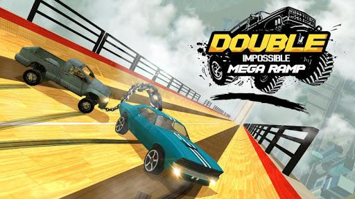 Double Impossible Mega Ramp 3D - Car Jump & Drift screenshots 1