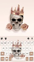 Rose Gold Skull Keyboard Background