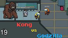 Among Us Godzilla Vs Kong Imposter Role Modのおすすめ画像2