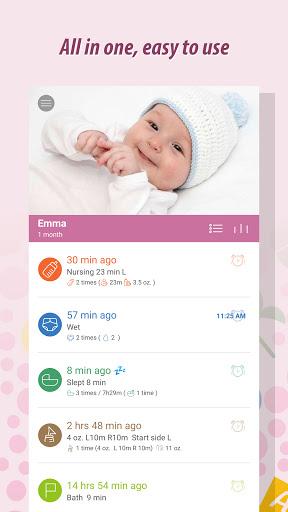 Baby Tracker - Newborn Feeding, Diaper, Sleep Log  screenshots 1