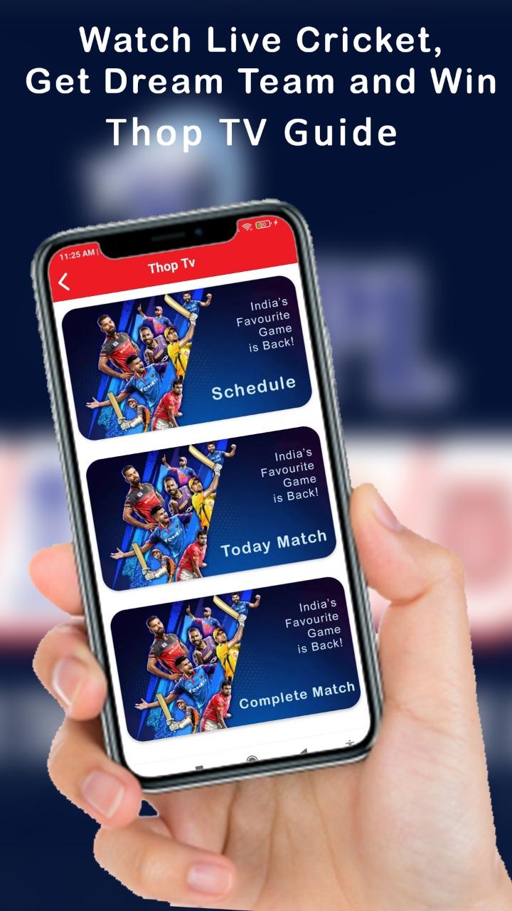 Watch live cricket on thoptv app free