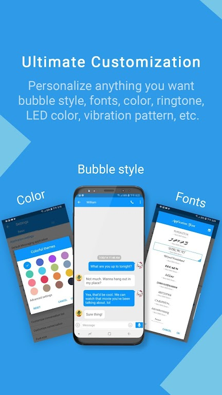 Handcent Next SMS - Best texting w/ MMS & stickers  poster 0