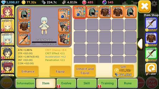 Super Girl Wars: Auto-play RPG 1.76 screenshots 6